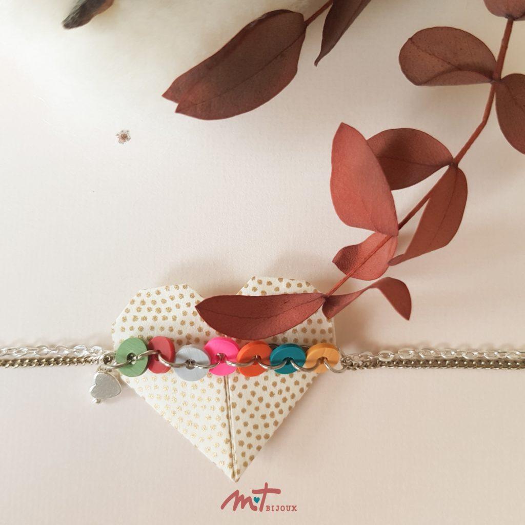 """Bracelet """"Petit coeur gris"""""""
